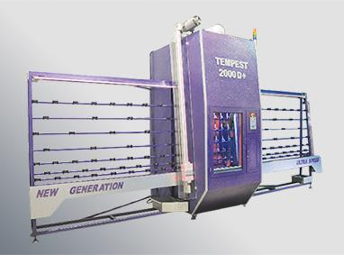 TEMPEST D+  آلة الرش الرملي العامودية لرش الواح الزجاج المسطحة والمنحنية